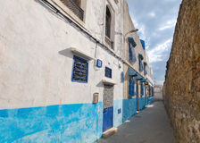 Narrow street in old Medina. Tanger Royalty Free Stock Images