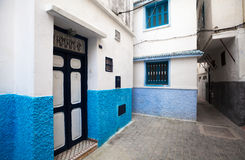 Narrow street of old Medina. Tanger, Morocco Royalty Free Stock Photos