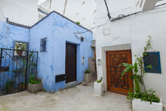 Narrow street of old Medina. Tangier Royalty Free Stock Photography