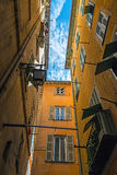 Narrow street in old part of Nice Stock Photography