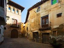 Narrow street at old spanish town. Borja Royalty Free Stock Image
