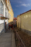 Narrow street of Old Tallinn Stock Images