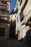A narrow street in the old town. Siesta time Royalty Free Stock Photo