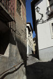 Narrow street in the old town. Narrow street in the old european town Royalty Free Stock Photos
