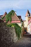 Narrow street in the old town. Of Tallinn Stock Photography