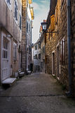 Narrow Street in Old Town. Narrow Alley in Old Town Stock Photo