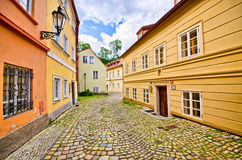 Narrow street in old town Stock Photo
