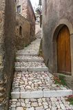Narrow street of old town Forsa d'Agro. Royalty Free Stock Photography