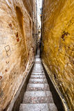 Narrow Street in Old Town (Gamla Stan) of Stockholm Royalty Free Stock Images