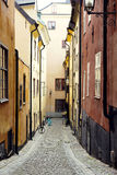 Narrow Street in Old Town Royalty Free Stock Photo