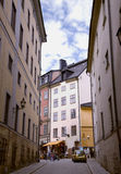 Narrow Street in Old Town Stock Photography