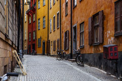 Narrow Street in Old Town (Gamla Stan) Stock Images