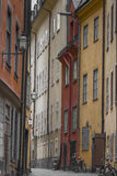 Narrow Street in Old Town (Gamla Stan) of Stockholm, Sweden Stock Photography
