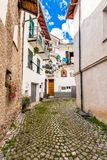 Narrow street in the old town. Stock Images