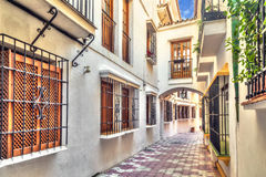 Narrow street in old town of Marbella Royalty Free Stock Photography