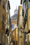 Narrow street in the Old Town of Nice, France Royalty Free Stock Photography