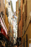 Narrow street in the Old Town of Nice Stock Photography