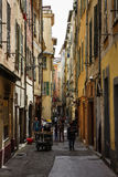 Narrow street of Old Town in Nice, France Royalty Free Stock Photo