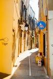 Narrow street in Rethymno Stock Photography