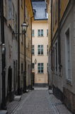 Narrow street in old town Stock Image