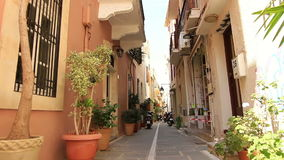Narrow street of the old town stock video footage