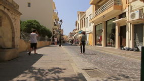 Narrow street of the old town stock footage