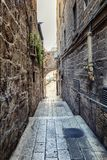 Narrow street in the old town stock image