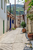 Street in old village on Cyprus Stock Photography