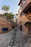 Narrow street in Old Yaffo. Stock Images