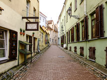 Narrow Street of Oldtown. Narrow Street in the Lithuanias Capital City Vilnius Oldtown Stock Photography