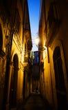 Narrow street in Ortigia Royalty Free Stock Image