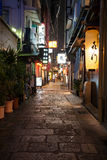 Narrow street in Osaka Stock Photography