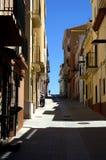 Narrow street in Palamos,Spain Stock Photography