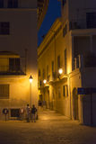 Narrow street in Palma de Mallorca at night Stock Image