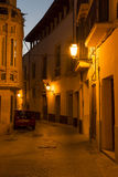 Narrow street in Palma de Mallorca at night. Narrow street in Palma de Mallorca, Spain. The Old City (in the south-east area of Palma behind the cathedral) is a Royalty Free Stock Image