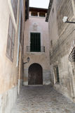 Narrow street in Palma de Mallorca Stock Photography