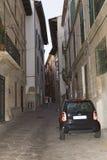 Narrow street in Palma de Mallorca Stock Photos