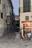 Narrow street in Palma de Mallorca Stock Photos
