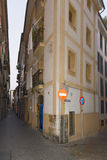 Narrow street in Palma de Mallorca Stock Images