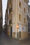 Narrow street in Palma de Mallorca Stock Images