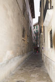 Narrow street in Palma de Mallorca Stock Photo