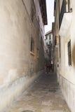 Narrow street in Palma de Mallorca Stock Photo