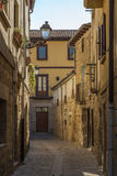 Narrow street of Pamplona, Spain Stock Images