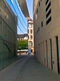 Narrow street passage Stock Photos