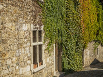 Narrow street passage at medieval village Perouges Royalty Free Stock Photo