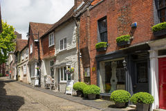Narrow street in Petworth, Sussex, England Stock Photography