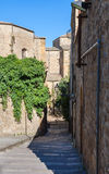 Narrow street in Piazza Armerina town in Sicily Royalty Free Stock Photography