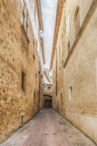 Narrow street Pienza Royalty Free Stock Images