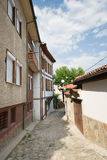 Narrow street in Plovdiv. Bulgaria Royalty Free Stock Photo