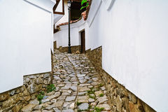 Narrow Street of Plovdiv Stock Images
